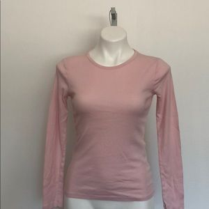 2 for $17. Long sleeved pink T shirt. Size M.